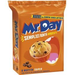 Mr.Day 6 Muffin Super con Pepite di Cioccolato Fondente 6 x 50 gr.