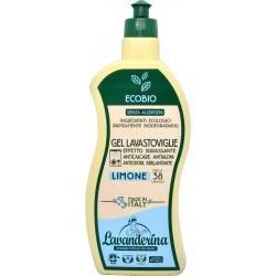 Lavanderina gel lavastoviglie al limone 38 lavaggi bio ml.650