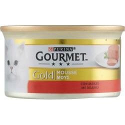 PURINA GOURMET Gold gatto mousse con manzo lattina 85g