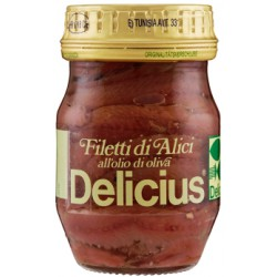 Delicius filetti di alici all'olio oliva - gr.90