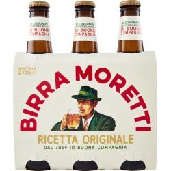 Moretti birra cl.33 cluster x 3